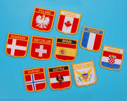 Embroidered Flags