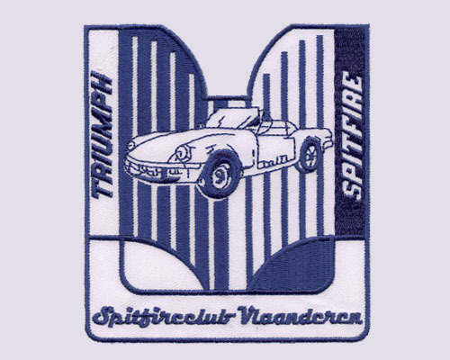 Triumph Spitfire Club Embroidered Patches