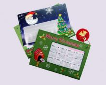 X'mas Embroidered Calendar Cards