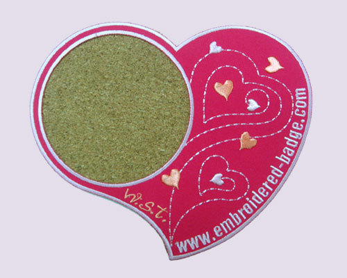 Heart Embroidered Coaster