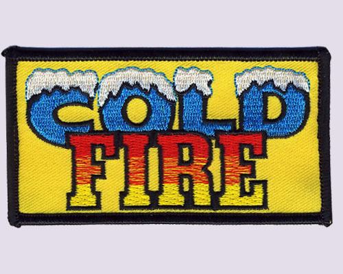 Cold Fire Embroidered Patches