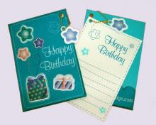Birthday Greeting Embroidered Card