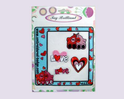 Lovely Pig Embroidered Sticker Package