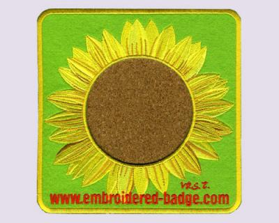 Sun Flower Embroidered Coaster