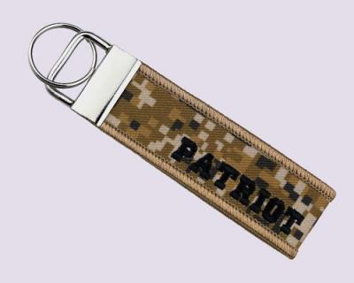 Patriot- Embroidery + Sublimation Key Chain