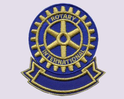 Rotary International Embroidered Patches (With 3D Surfaces)