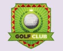 Embroidery+Sublimation Patch, Emblem- Golf Club