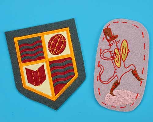 Embroidered Patches - Felt Fabric