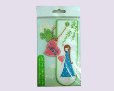 Exquisite Bookmarks with Embroidered Charms