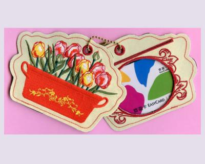 Flower Embroidered Luggage Tag (Bus Pass or Stored Value Card Holder)