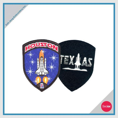 Embroidery Patch with Velcro Backing - HOUSTON