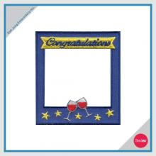 Removable Photo Frame Embroidery Sticker - Congratulations