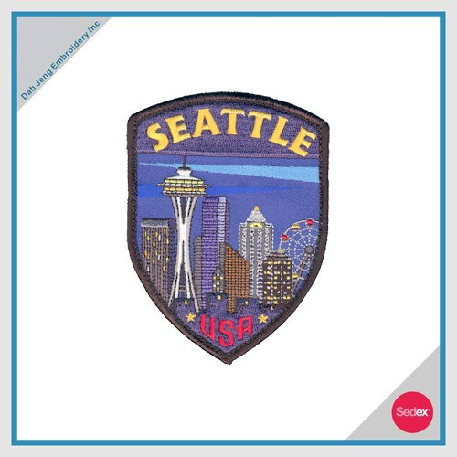 Embroidery Patch with Velcro Backing - SEATTLE