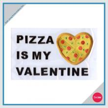 Iron On Embroidery Set - PIZZA IS MY VALENTINE
