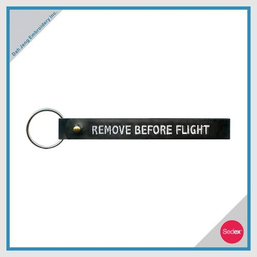 Embroidery Key Chain - REMOVE BEFORE FLIGHT