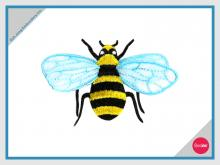 Embroidery Patch - Customized Iron on Patch- Bee