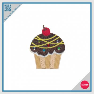 Embroidery with Rhinestone Sticker - Cupcake
