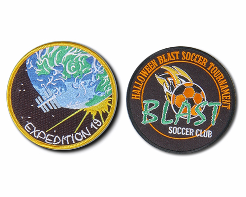 Round Embroidered Patches