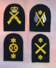 Bullion Wire Embroidered Badges