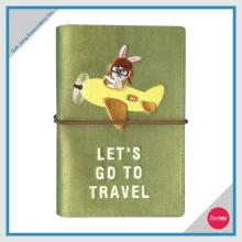 EMBROIDERED PASSPORT COVER - LET'S GO TO TRAVEL